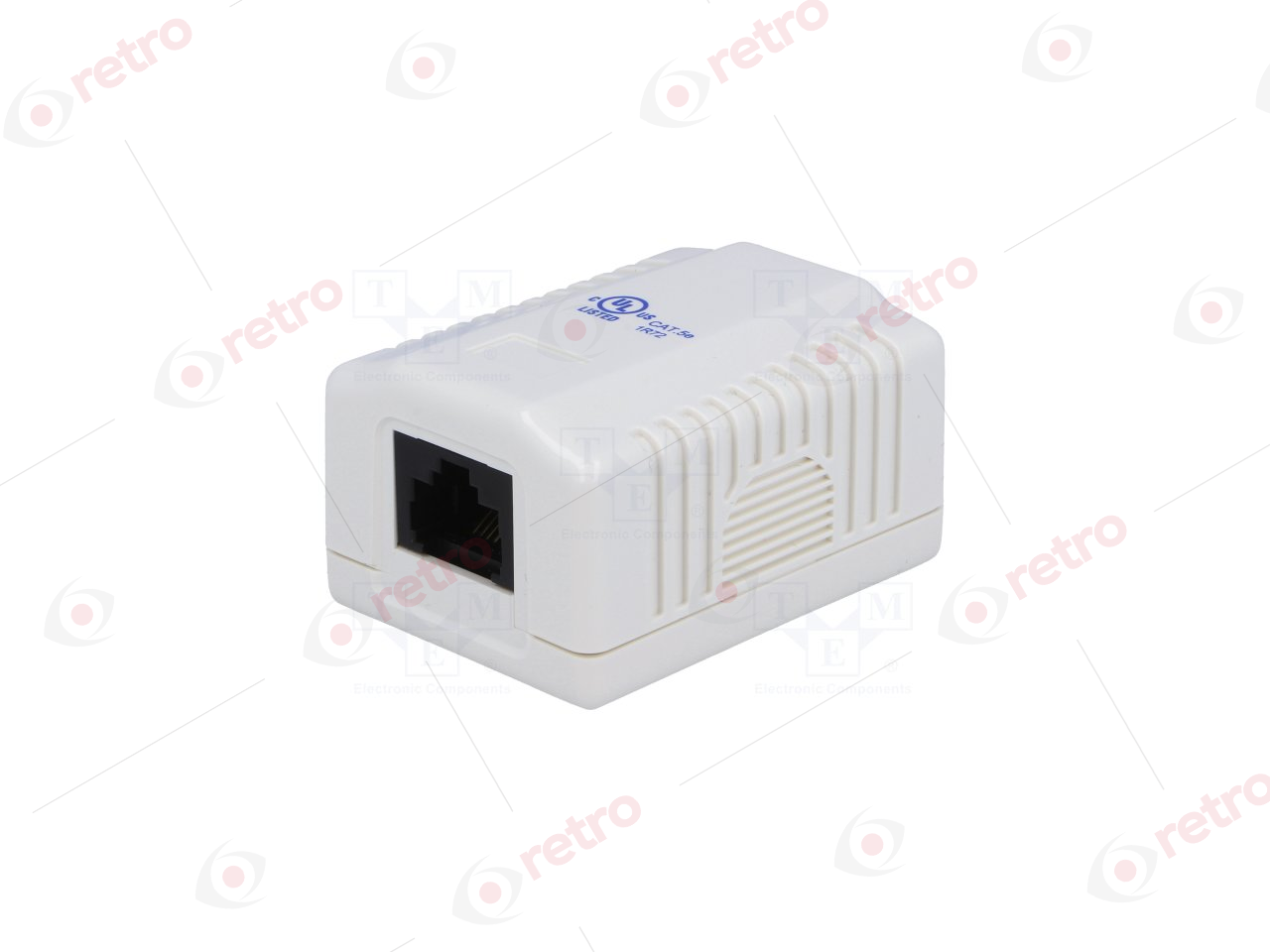 DN-93804 DIGITUS Surface mount box for faceplates 80x80 mm, color pure white French layout