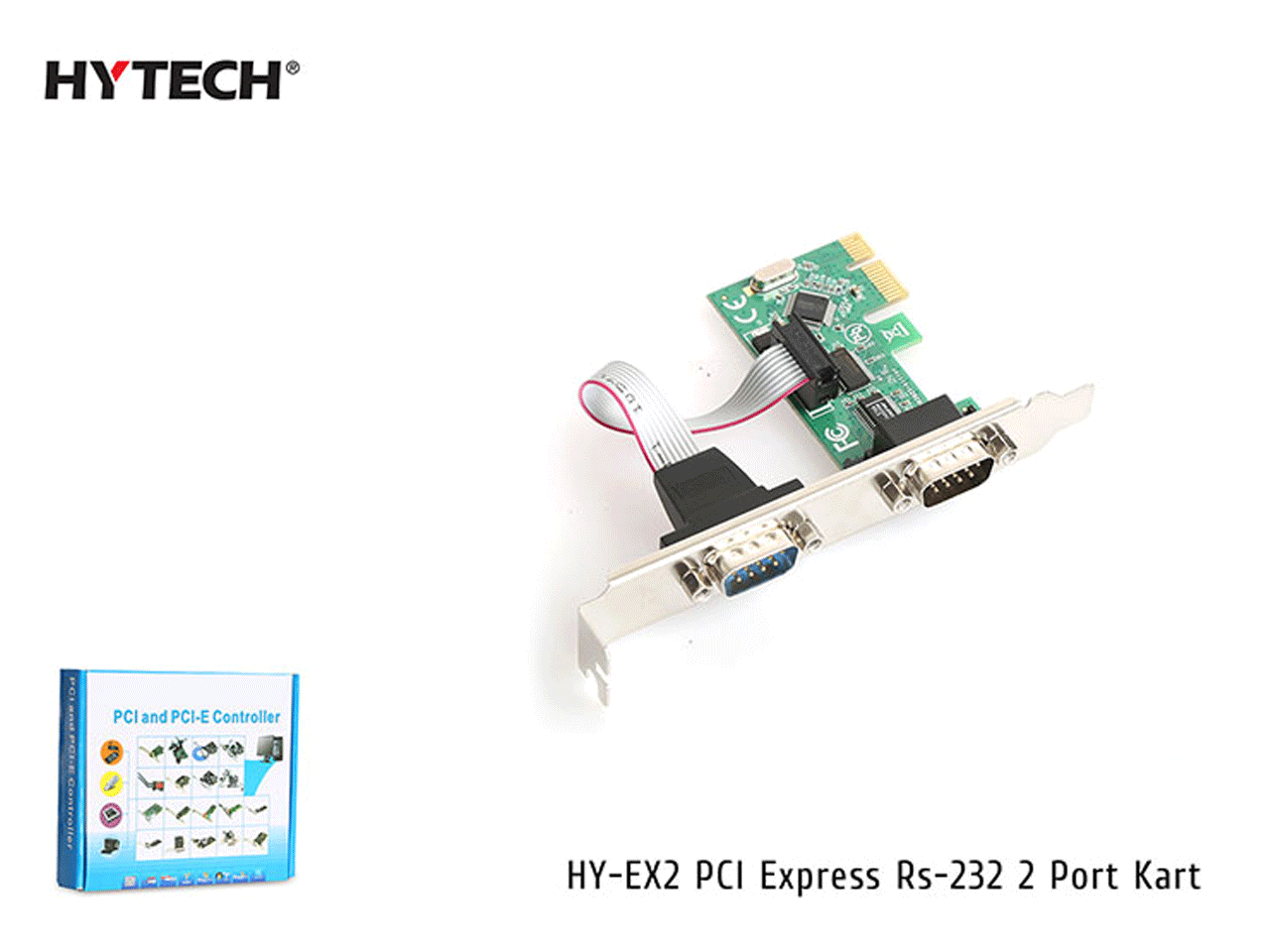 Hytech HY-EX2 PCI Express Rs-232 2 Port Kart